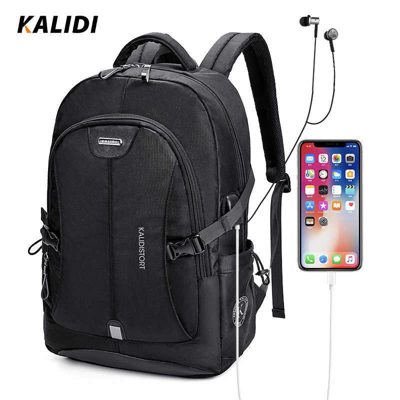 KALIDI мужские рюкзаки школьные 15 17 дюймов рюкзаки для ноутбуков Дорожные Сумки Многофункциональный блокнот Рюкзак 15,6 рюкзак usb зарядка