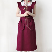 Polyester Cotton Frill Apron Florist Waitress Maid Coffee Shop Pastry Chef Work Wear Cafe Barista Baker Flower Shop Uniform D8(China)