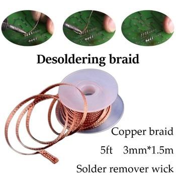 Copper Desoldering Wire for Removing Tin Solder Suction of Solder Desoldering Braid Solder Remover Rosin Code цена 2017