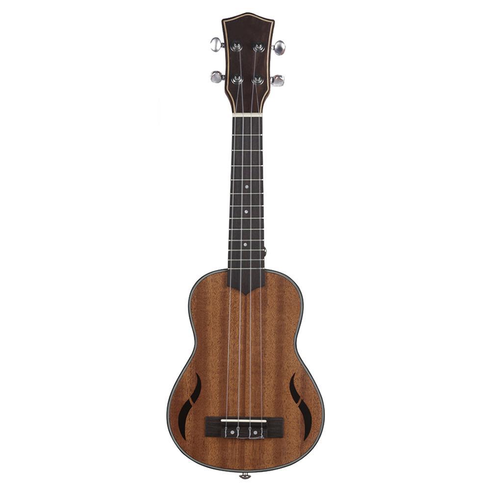 Printemps 21 pouces 15 frettes acajou Soprano ukulélé guitare Sapele palissandre 4 cordes guitare hawaïenne Instruments de musique