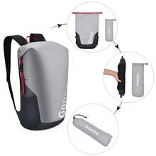 Gonex mochila dobrável de 35l, 210d, nylon, esportiva, para viagem ao ar livre, acampamento, caminhadas, ciclismo, com bolsa