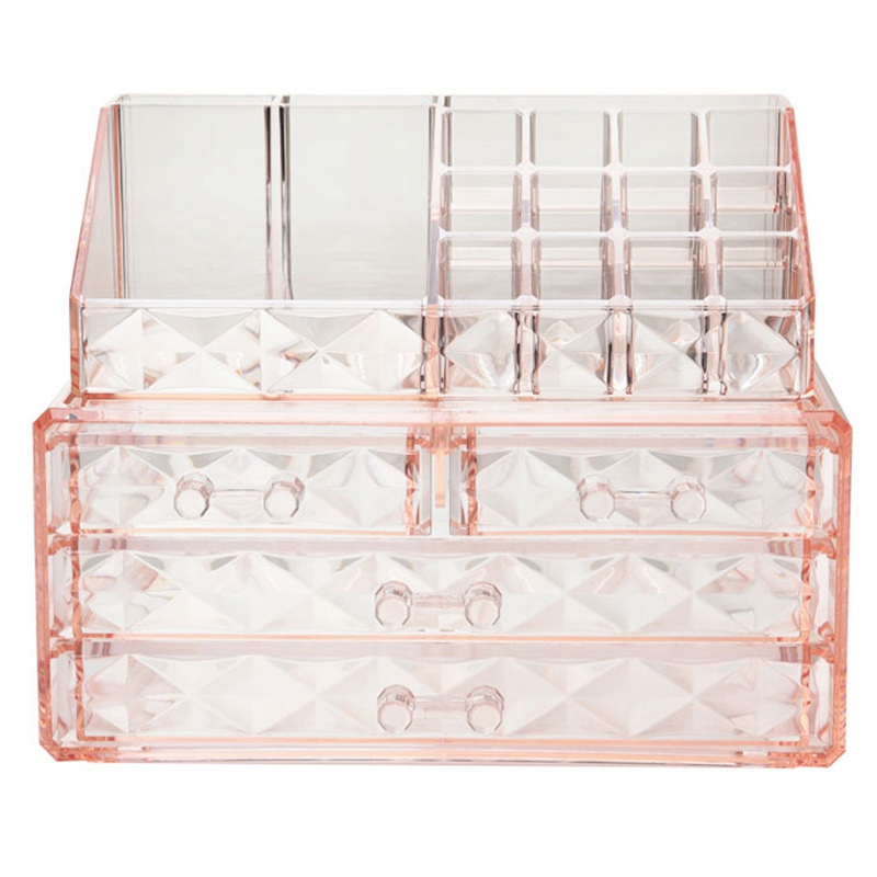 1Pc Transparent Makeup Jewelry Acrylic Storage Box Make Up Cosmetic Organizer Storage Drawers Lipstick Gloss Holder