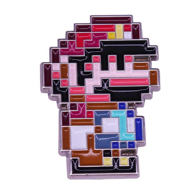Mario pixel przypinka prezent dla graczy Nintendo