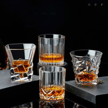 Lead-Free Glass Cup Household Wine Glass Set Large Beer Steins Distilled Beverage Wine Set fashion free shipping lead free crystal handmade blown beer glass beverage juice cup household large capacity drinking utensils