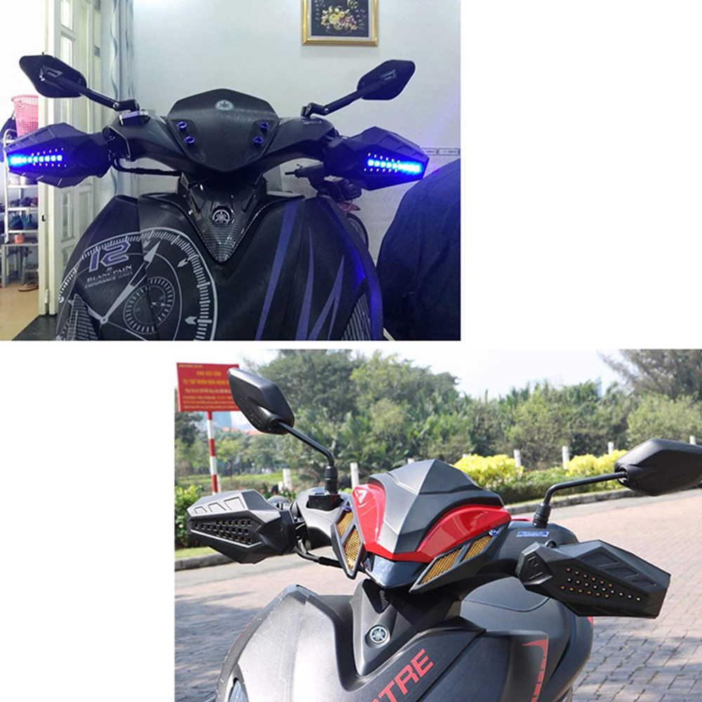 รถจักรยานยนต์ WIND SHIELD Handguards LED Light สำหรับ Honda vtx 1300 Honda Africa TWIN crf1000l Suzuki Bandit 600 Benelli TRK 502x