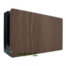 حافظة خشبية ناعمة مخصصة لجهاز Nintendo Switch ، غطاء بديل ذاتي الصنع مع قبضة ناعمة الملمس