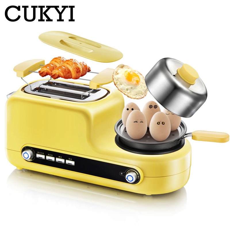 CUKYI New High Quality Multifunctional Household Toaster Mini Breakfast Maker 3 In 1 Egg Steamer Sandwich Making Machine Kitchen