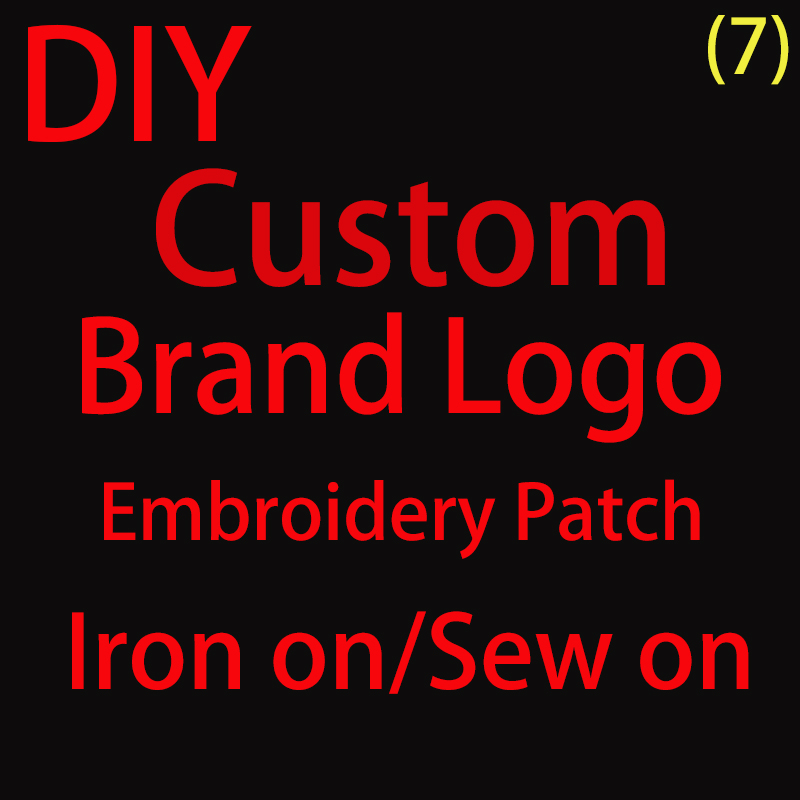 Тренд изготовленный на заказ логотип бренда железа на вышивка патчи для одежды Бесплатная доставка, с клеящим материалом для глажки, стежка...