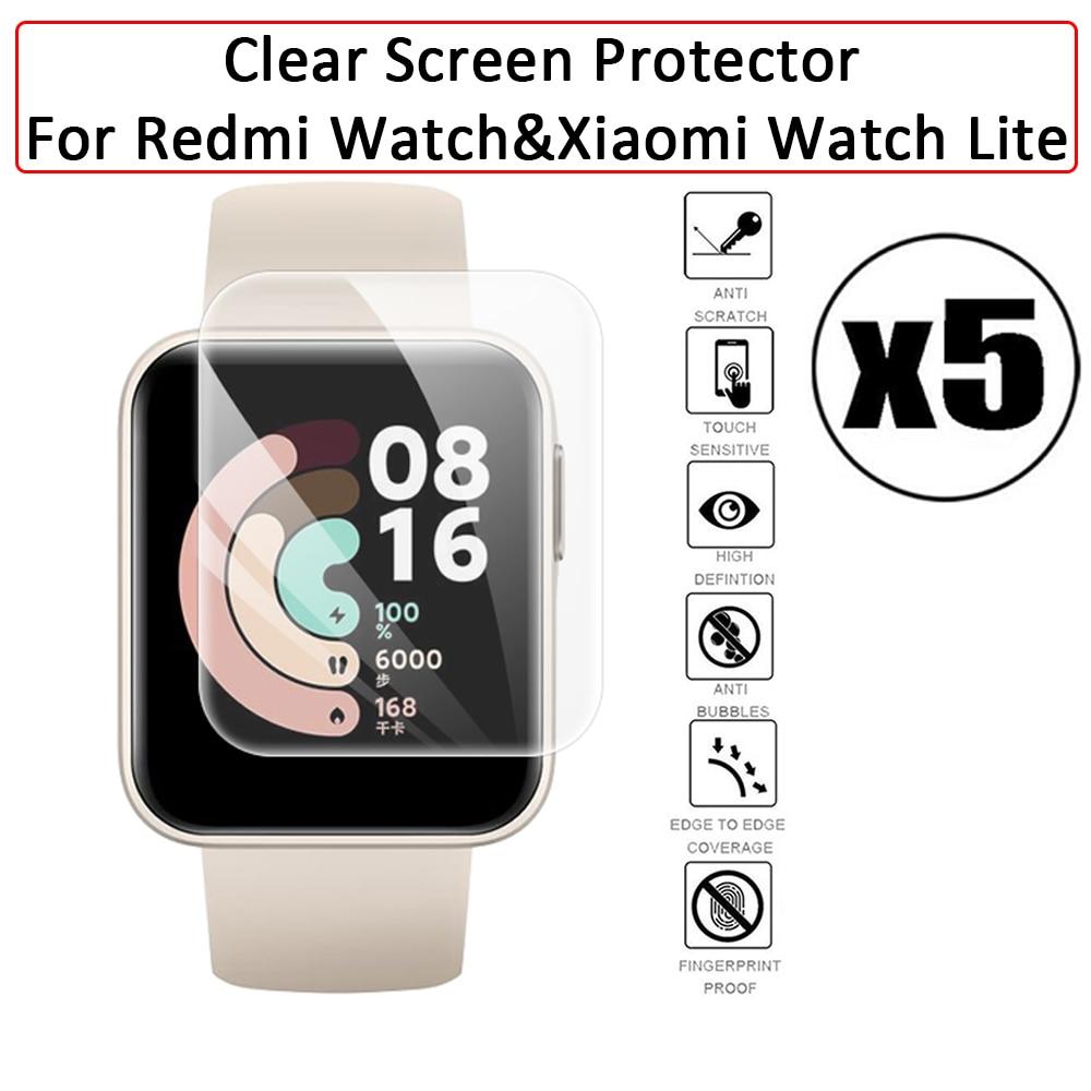 Мягкая защита экрана для Xiaomi Redmi Watch & Mi Smart Watch Lite, Гидрогелевая Защитная пленка с полным покрытием против царапин, аксессуары