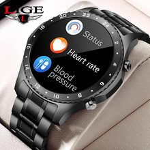 LIGE Fashion Smartwatch Men Smart Watch Women Bluetooth Call Watch Waterproof Sport Fitness Bracelet Clock For Android iOS Phone