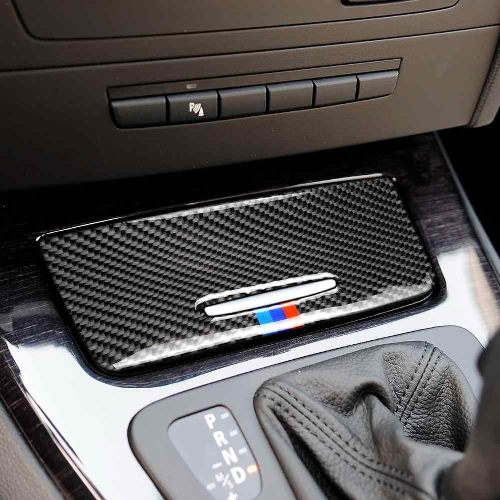 Real Carbon Fiber Gear Shift Panel Cover Trim For BMW 3 Series E90 E92 E93 05-12