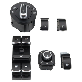 6PCS 5ND959857 5ND941431B  5ND 959 565A Window Mirror Headlight Switch for V W J etta 6 Golf GTI 5 6  Tiguan Passat B6 CC 4x 0280158026 06a906031bs 852 12220 fj670 fuel injector for volkswagen beetle golf golf city j etta j etta city 2 0l l4