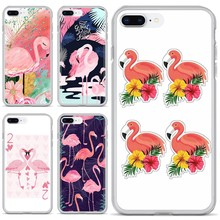Silicone Housing Flamingo Pink Cool For BQ BQS S 5059 5035 6040L For HTC U11 U12 Plus For LG K10 K8 K7 K4 2017(China)