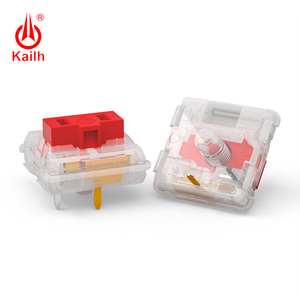 Image 2 - Kailh Choc Red Crystal Switch low profile Switch Chocolate Mechanical Keyboard Switch RGB SMD white stem linear hand feeling