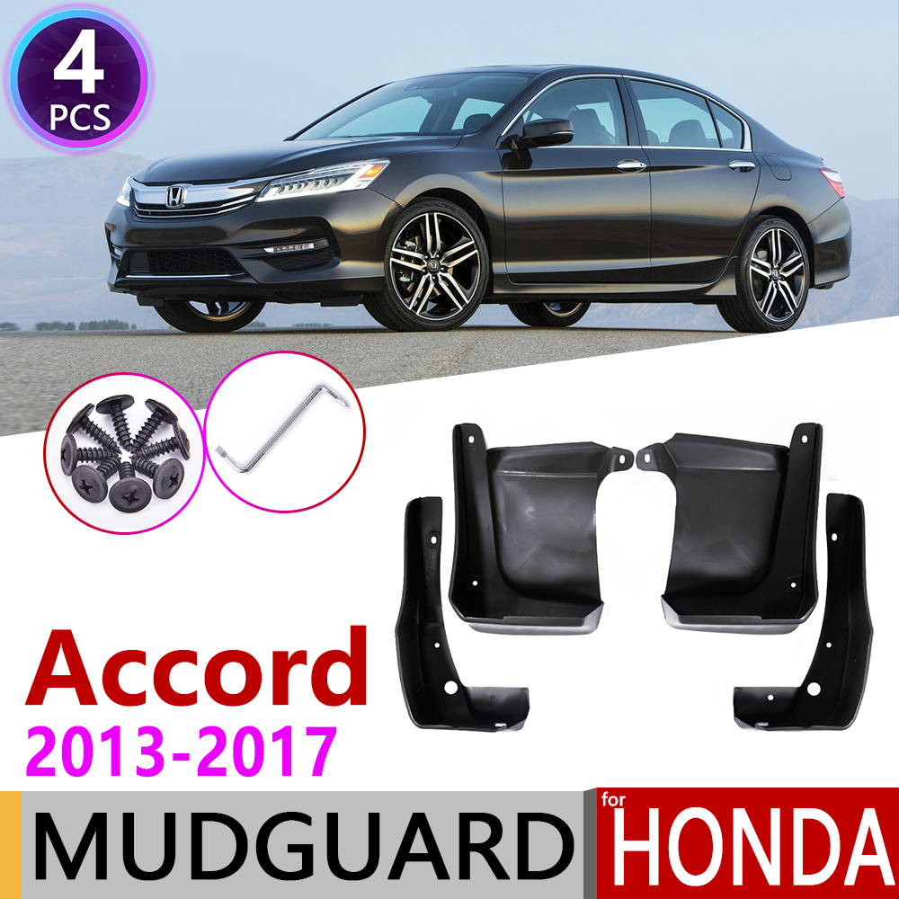 4 PCS Car Mudflap for <font><b>Honda</b></font> <font><b>Accord</b></font> 2013~2017 Fender Mud Guard Flap Splash Flaps Mudguards <font><b>Accessories</b></font> 2014 2015 <font><b>2016</b></font> 9th 9 Gen image
