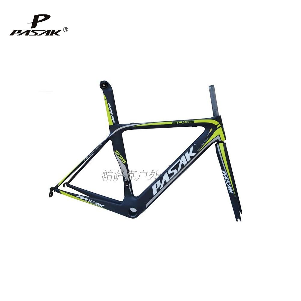 Pasak S35 700C Road Bike Carbon Frame Ultralight Frames Cable Internal Machinery Electric Derailleur Bicycle T800 Carbon Fibre