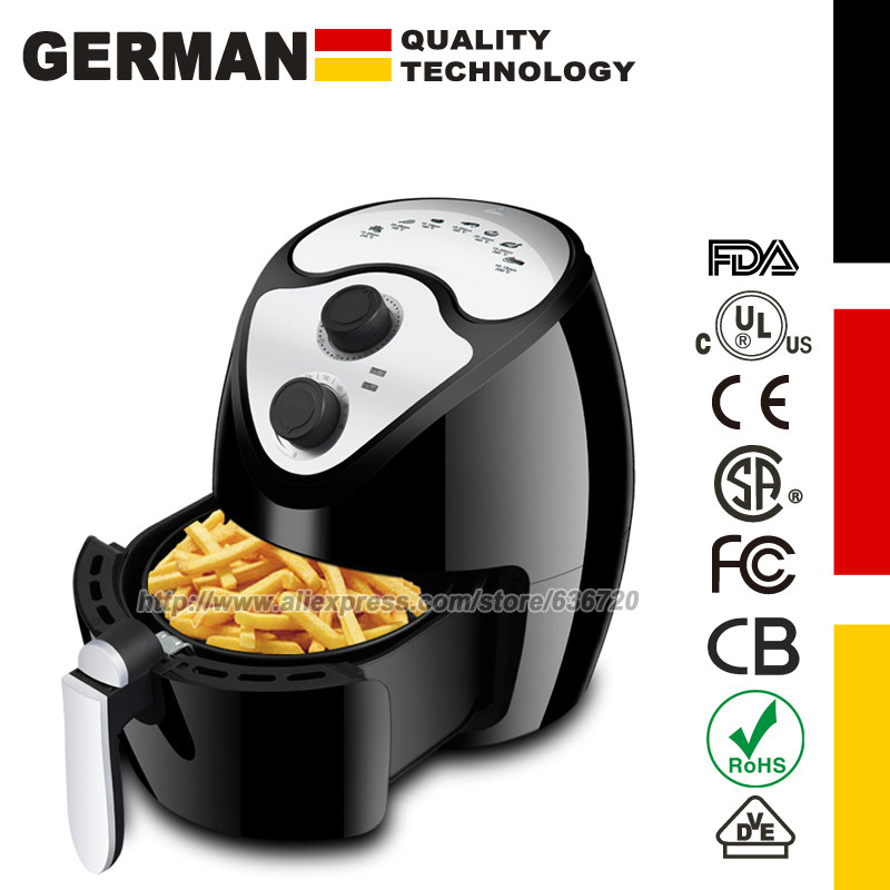 Air Fryers | Air Fryer 3.7 Quart 1300 Watt Electric Hot Air Fryers Oven Oil Free Nonstick Cooker For Frying, Roasting, Grilling, Baking