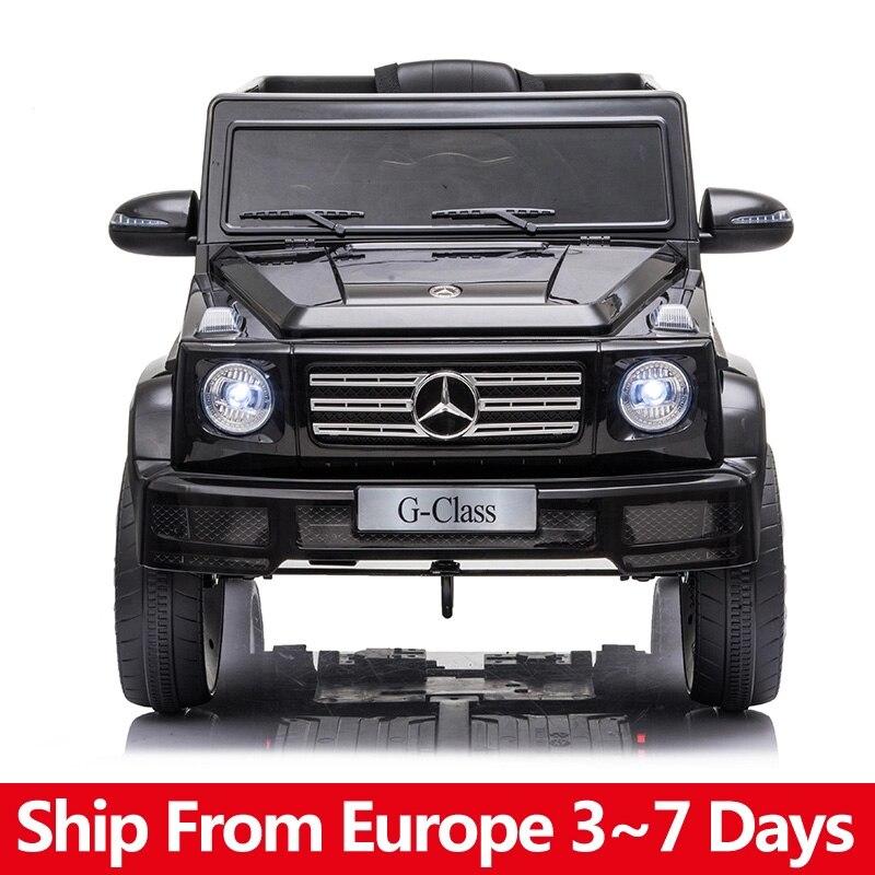 Coche eléctrico Mercedes Benz G500 para niños, vehículo de doble tracción, 35W x 2 batería, 12V, 7A, 2,4G, mando a distancia|Coches para montarse| - AliExpress