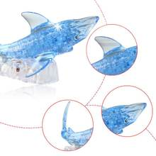 3d пазл с кристаллами акулы интеллектуальные Обучающие игрушки