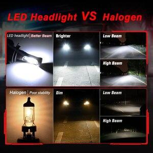 Супер яркий автомобиль Фары H7 LED H4 LED/HB2/9003 H8/H9/H11 HB3/9005 HB4/9006 Авто лампы 72 Вт 9000LM автомобилей фары 6500 К