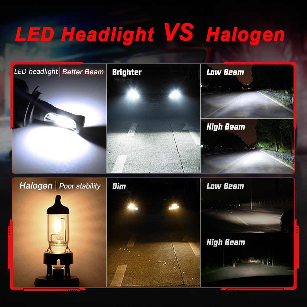 Nighteye Super Bright Car Headlights H7 Led H4 Led H1 H8 H11 Hb3 9005 Hb4 9006 Auto Bulb 72w 9000lm Automobiles Headlamp 6500k Headlight H7 Led H7 Ledh4 Led Aliexpress