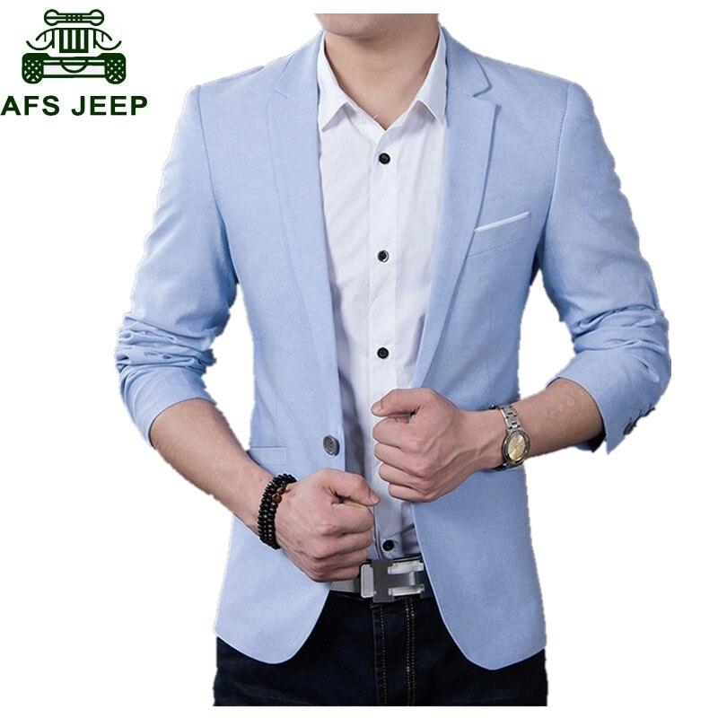 Brand New Men Blazer 2019 Casual Business Wedding Party Suits Men Slim Fit Suit Jacket Male Plus Size S-5XL Blazer Masculino