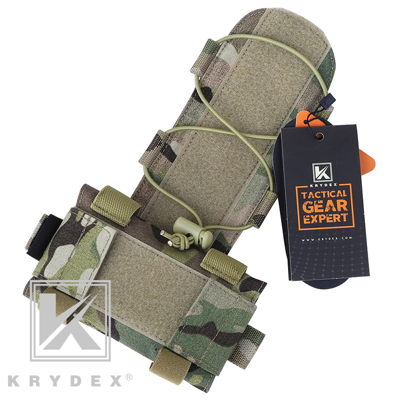 KRYDEX MK1 Tactical Battery Pouch For Combat Helmet Accessory Storage Retention System Counterweight GPNVG-18 Battery Box MC