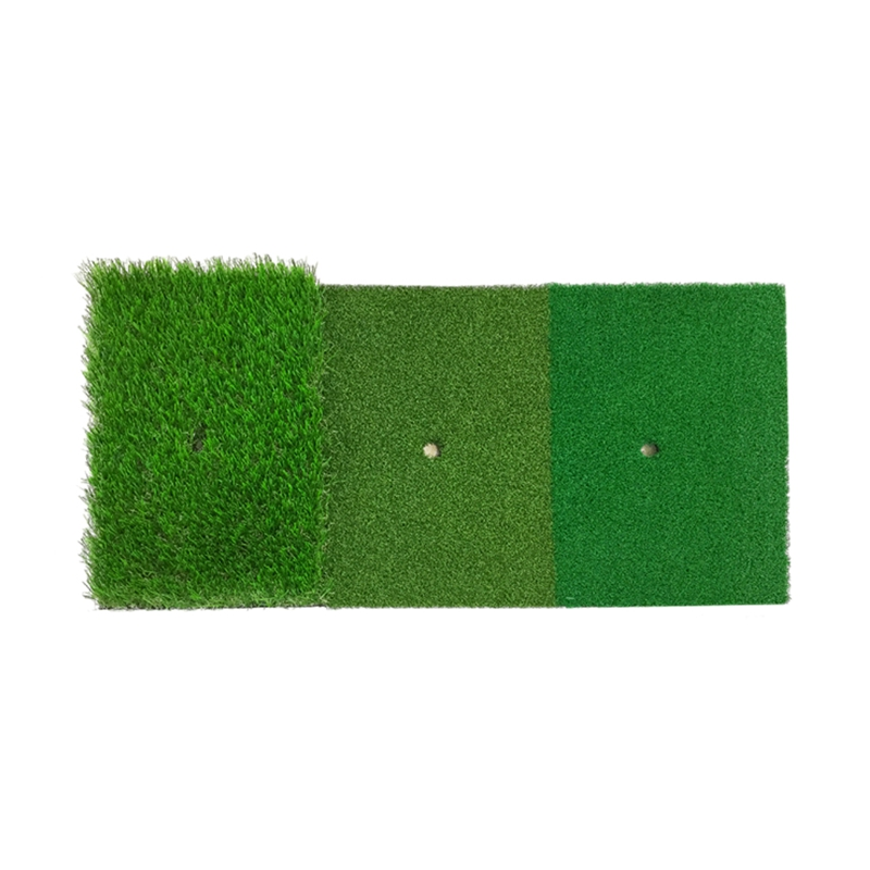 1Pcs 12X24 Inch Golf Hitting Mat Indoor Outdoor Tri-Turf Golf Mat With Tees Hole Practice For Golf Training Aids