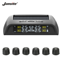 Jansite TPMS Truck Alarm Tire Pressure Sensor Monitoring System solar power Auto Security alarm Pressure control system 6 sensor practical tire pressure monitoring system pressure control system of high precision intelligent car alarm systems 433 92 mhz