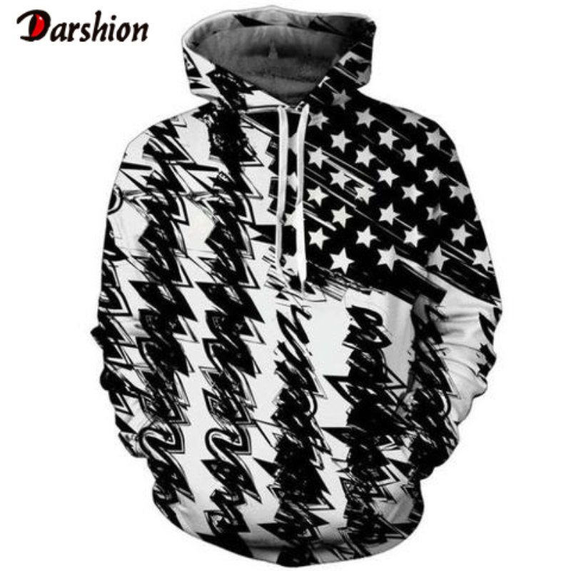 High Quality Fashion Brand Men's Hoodies Sweatshirt Men Funny 3D Flag Printed Plus Size XXS-4XL Printed Hoodie For Men Pullovers