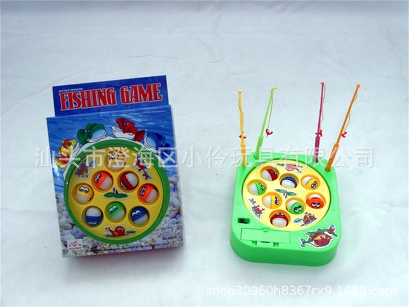 Parent And Child Interactive Electric Music Rotating Fishing Plate Set Boys And Girls Educational Baby Fishing Game Toy
