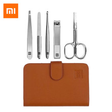 Xiaomi mijia HUOHOU 5 шт./компл. машинка для стрижки ногтей из нержавеющей стали косметические ножницы пинцет Curette комплект ножниц для ногтей из нержавеющей стали