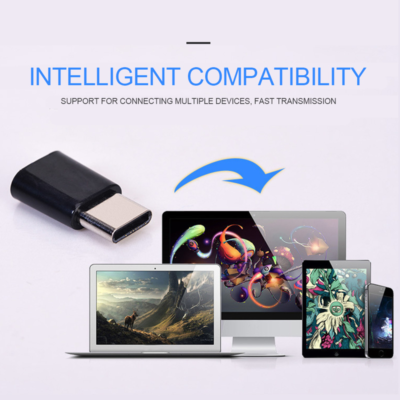 Otg android tipo-c para micro adaptador usb tipo-c interface de linha de dados do telefone móvel carregamento conversor de transmissão de alta velocidade