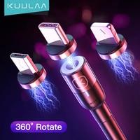 KUULAA cavo magnetico Micro USB tipo C per iPhone Xiaomi telefono cellulare Android cavo USB a ricarica rapida cavo magnetico per caricabatterie