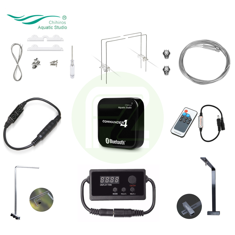 Chihiros Light Accessories LED Smart Controller Commander Dimmer Timer Metal Bracket Hang On Kit Accessory