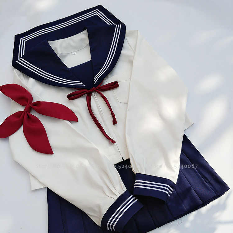 Japonês escola jk uniformes marinheiro marinha terno estudantes coreanos anime carnaval festa trajes cosplay meninas saia topos conjunto de roupas