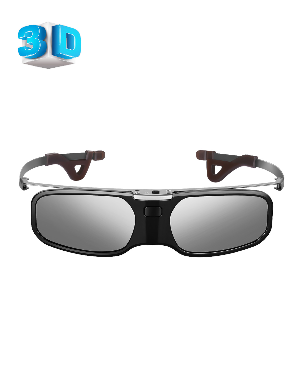 3D Glasses Bluetooth Rechargeable Active Shutter Eyewear Clip Compatible with Epson Sony LCD Projector