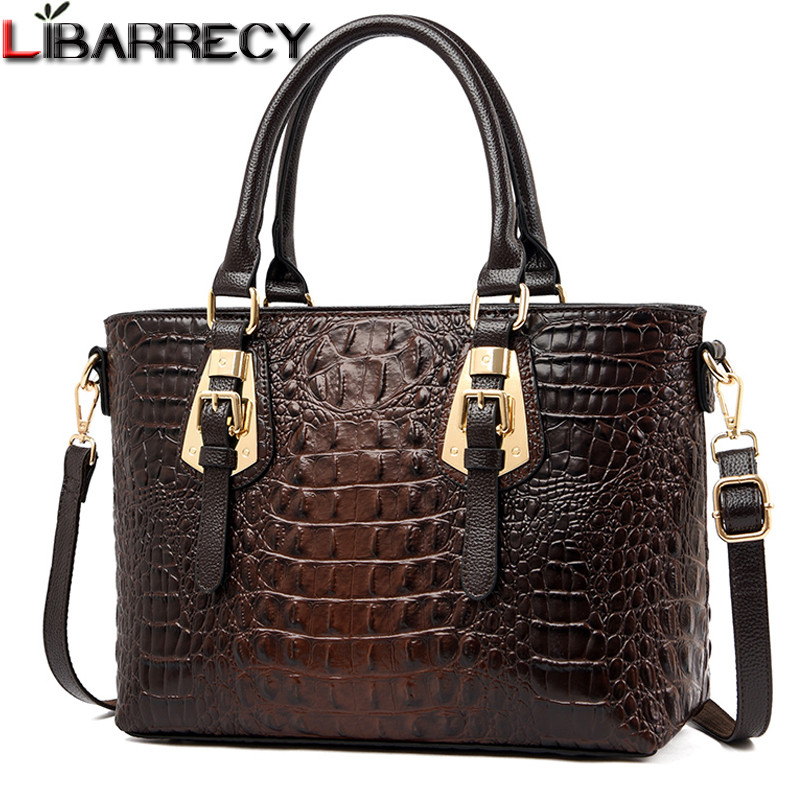 Luxury Handbags Women Bags Designer Bolsa Feminina Fashion Shoulder Crossbody Bags Female Crocodile Pattern Leather Totes Bags