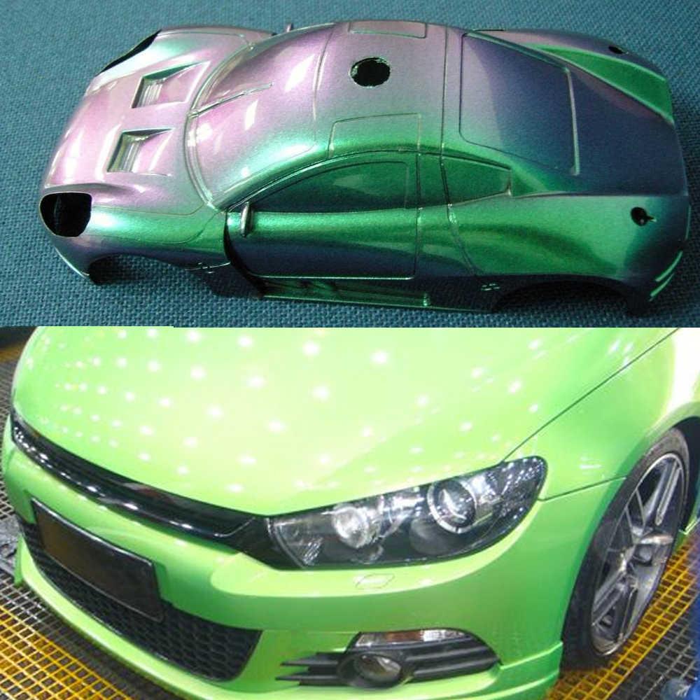 YB80 Bunglon Pigmen Cat Akrilik Lapisan Bubuk untuk Mobil Kerajinan Seni Kuku Dekorasi Lukisan Persediaan Bunglon Pewarna 10G