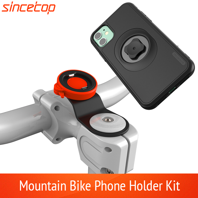 Mountain Bike Phone Holder For IPhone 11 Pro XsMax 8plus 7s 6 Bicycle Handlebar Mount Cell Phone Bag  Stand With Shockproof Case