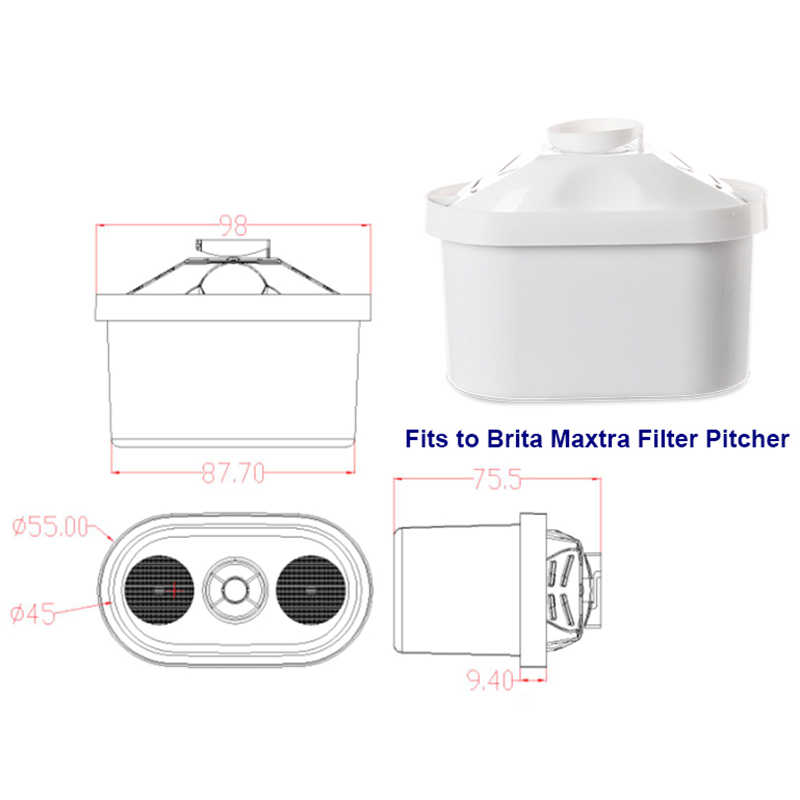 Filter air Cartridge Filter Universal Kendi Air Rumah Cartridge Alat Pembersih untuk Jar Brita Maxtra Air Dekalsifikasi