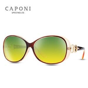 Image 5 - Женские поляризационные солнцезащитные очки CAPONI, оверсайз солнцезащитные очки в форме бабочки для вождения днем и ночью, RY2115