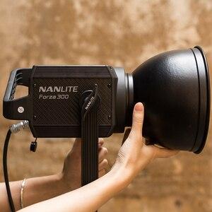 Image 5 - NANLITE luz LED para fotografía al aire libre, 60W, 300W, 5600K, luz COB con montaje de bowens, lámpara estroboscópica para Flash