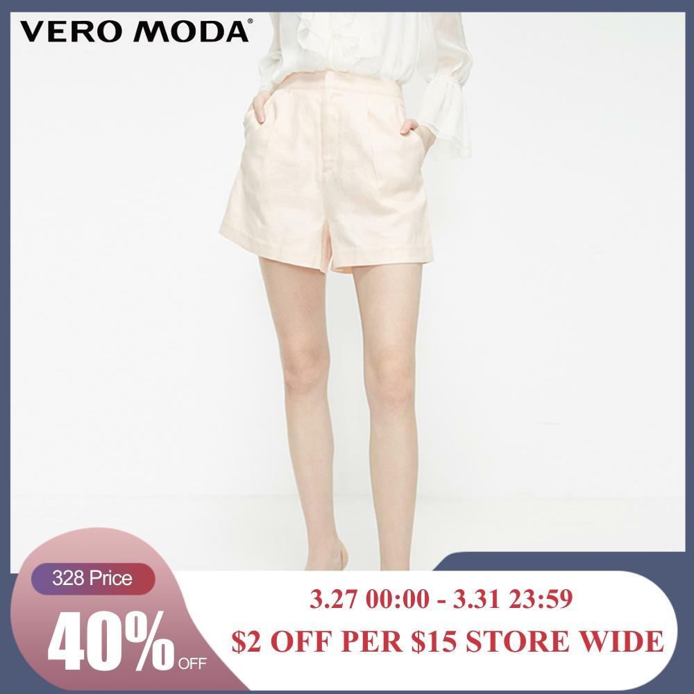 Vero Moda Women's 62% Linen OL Style Casual Shorts | 319215506