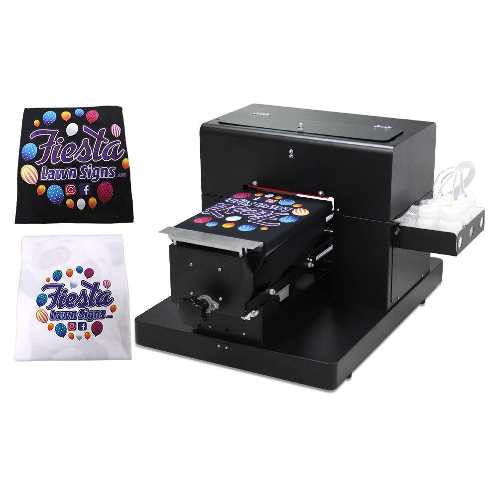 Impressora dtg a4 flatbed impressora para t-camisa pvc cartão telefone caso impressora multi cor máquina de impressão a4 alta qualidade