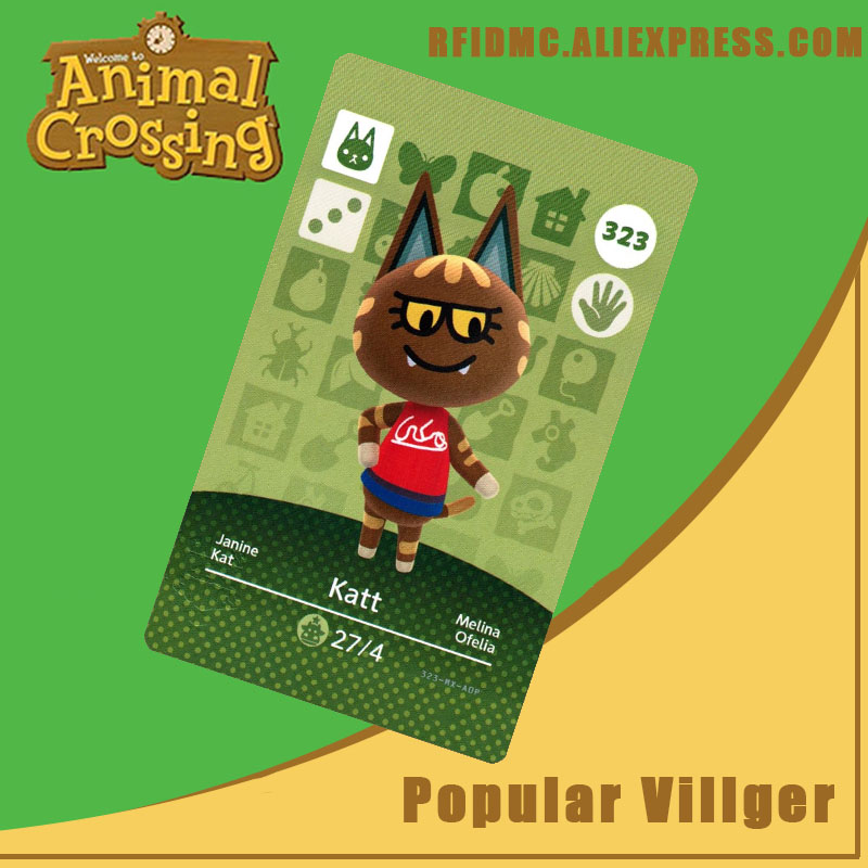 323 Katt Animal Crossing Card Amiibo For New Horizons
