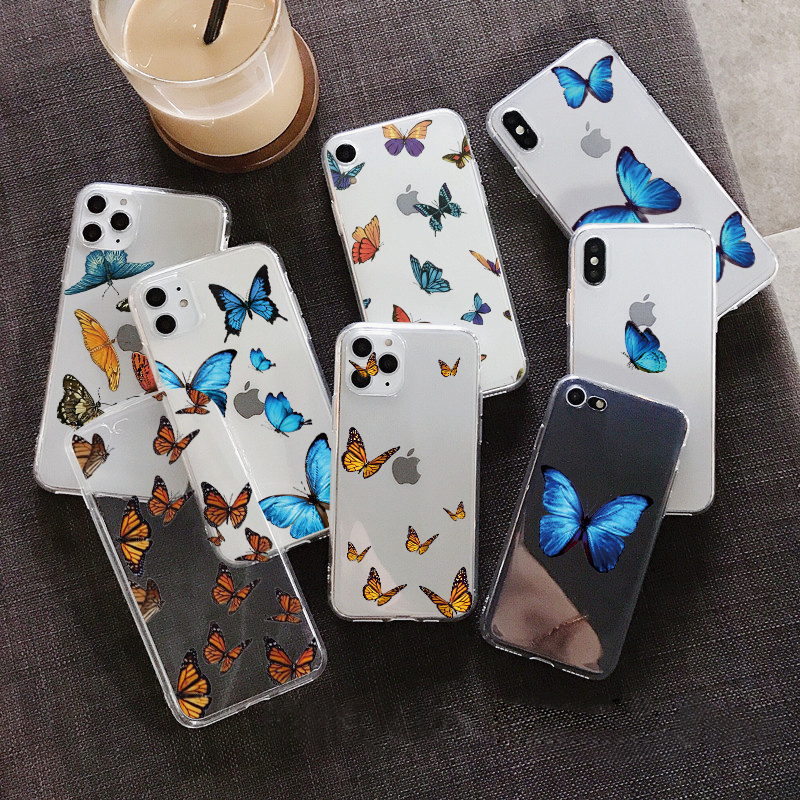 Butterfly Case For Xiaomi Redmi Mi A3 Lite Cc9e CC9 S2 GO Pocophone F1 Note 10 4 4X 5A 5 Plus 6 6A 7 7A 8A 9 Pro 8 Soft TPU Case