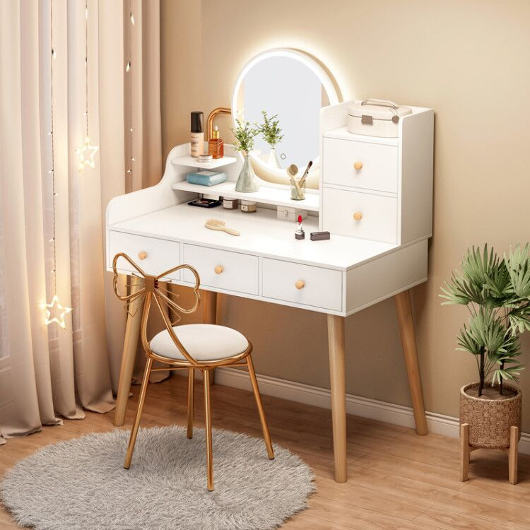 80cm Bedroom Furniture Dressing Table, Dressing Room Mirror With Light Furniture