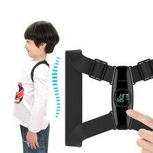 Custom Angle Smart Posture Correction Belt For Adult&Children Correct Hunchback Spine Posture Corrector Upper Back Brace Black