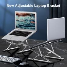 Tragbare Aluminium Laptop Stand Faltbare Notebook Stand Double Schicht Höhe Einstellbar Laptop Halter Unterstützung Für Macbook Halterung